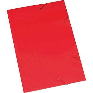 Pasta Aba Elastica Papel Oficio Vermelha Polycart