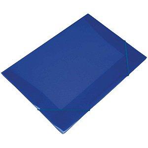 Pasta Aba Elastica Plastica Mini 20Mm Azul Soft Polibras