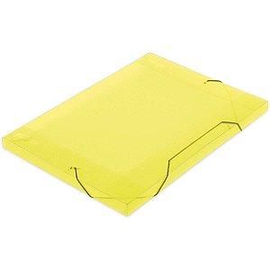 Pasta Aba Elastica Plastica Oficio 18Mm Amarela Soft Polibras