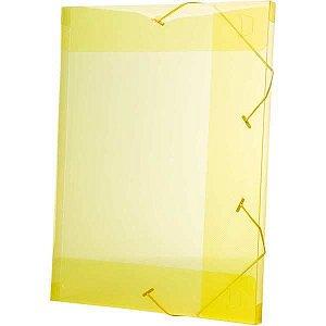 Pasta Aba Elastica Plastica Oficio 20Mm Amarela Delloline Dello