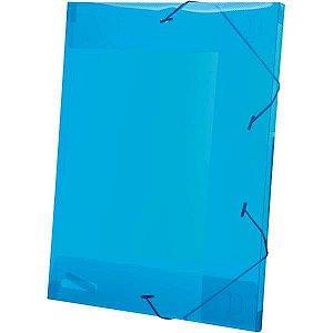 Pasta Aba Elastica Plastica Oficio 20Mm Azul Delloline Dello