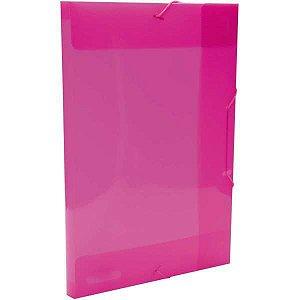 Pasta Aba Elastica Plastica Oficio 20Mm Pink Delloline Dello