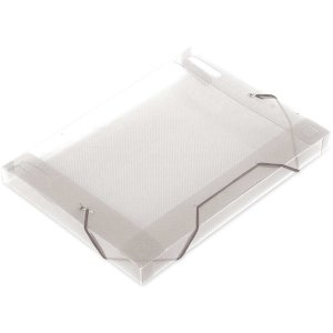Pasta Aba Elastica Plastica Oficio 30Mm Cristal Soft Polibras
