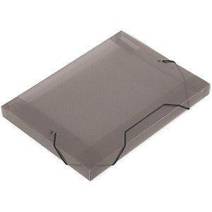 Pasta Aba Elastica Plastica Oficio 30Mm Fume Soft Polibras