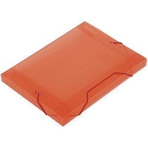 Pasta Aba Elastica Plastica Oficio 30Mm Vermelho Soft Polibras
