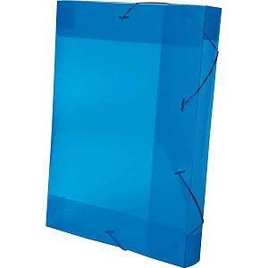 Pasta Aba Elastica Plastica Oficio 40Mm Azul Delloline Dello