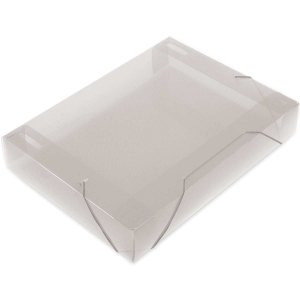 Pasta Aba Elastica Plastica Oficio 55Mm Cristal Soft Polibras