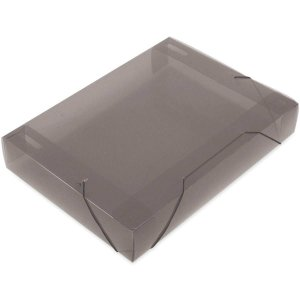 Pasta Aba Elastica Plastica Oficio 55Mm Fume Soft Polibras