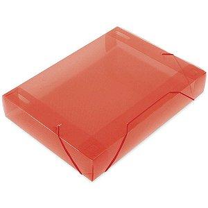 Pasta Aba Elastica Plastica Oficio 55Mm Vermelha Soft Polibras