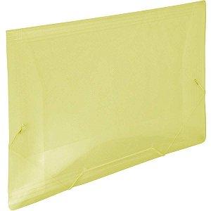 Pasta Aba Elastica Plastica Oficio Amarela Line Dac