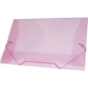 Pasta Aba Elastica Plastica Oficio Rosa Acp