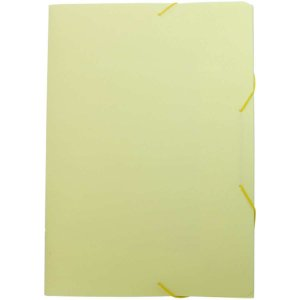 Pasta Aba Elastica Plastica Oficio Serena Amarelo Pastel Dello
