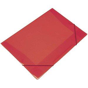Pasta Aba Elastica Plastica Oficio Vermelha Soft Polibras