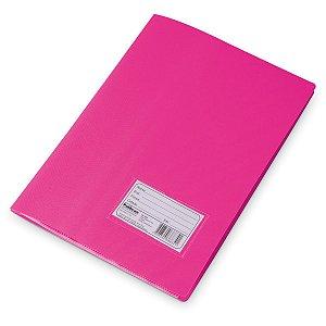 Pasta Catalogo Plastica Oficio Rosa 10Envel. Polibras