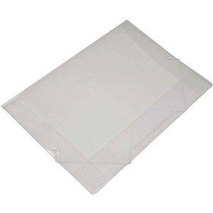 Pasta Grampo Trilho Plastica Oficio Cristal Soft Polibras