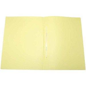 Pasta Grampo Trilho Plastica Oficio Serena Amarelo Pastel Dello