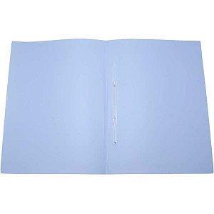 Pasta Grampo Trilho Plastica Oficio Serena Azul Pastel Dello