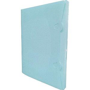 Pasta Plastica Aba Encaixe Pp Azul Pastel Romitec
