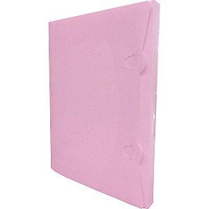 Pasta Plastica Aba Encaixe Pp.rosa Pastel Romitec