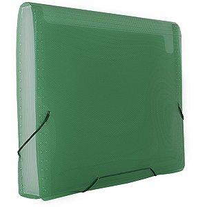 Pasta Sanfonada Plastica A4 12 Divisoes Verde Polibras