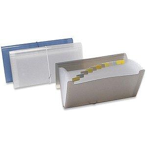Pasta Sanfonada Plastica Porta Cheque 12 Divisoes Fume Polibras