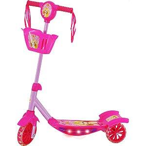 Patinete Rosa C/luz,som E Cesta Dm Toys