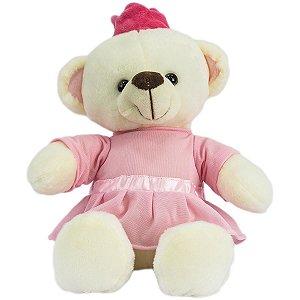Pelucia Urso Princesa 25Cm Unik Toys