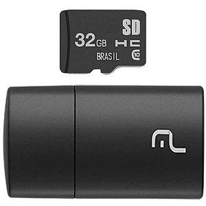 Pen Drive Usb Kit 2 Em 1 32G Micro Sd/adapt. Multilaser