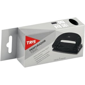 Perfurador De Papel Tris T202 P/10Fls 2Furos Preto Summit