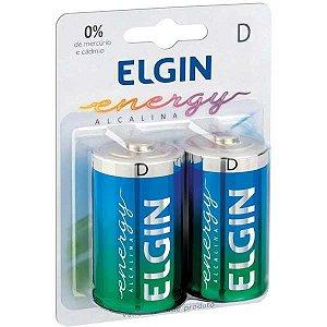 Pilha Alcalina Grande-D 10Blistersx2Unids. Elgin