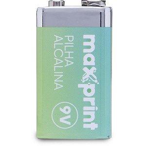 Pilha Bateria 9V Alcalina Maxprint