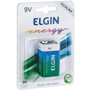 Pilha Bateria 9V Alcalina 10Blistersx1Unid. Elgin