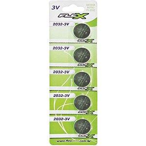 Pilha Bateria Botao Cr2032 3V. Flex