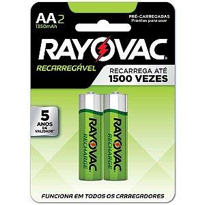 Pilha Recarregavel Pequena Aa 1400Mah Eco Ray Rayovac