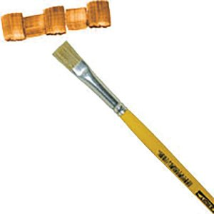 Pincel Artesanal Chato 815 N.08 Amarelo Pinceis Tigre