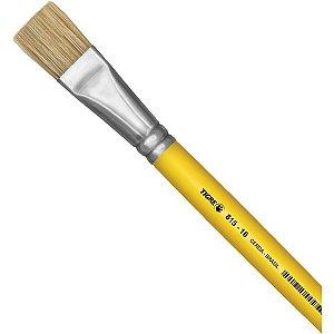 Pincel Artesanal Chato 815 N.16 Amarelo Pinceis Tigre