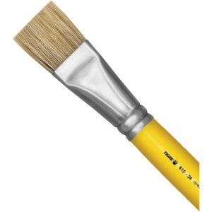 Pincel Artesanal Chato 815 N.24 Amarelo Pinceis Tigre