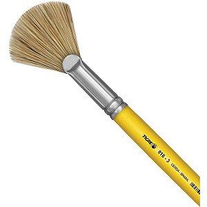 Pincel Artesanal Fan Leque 818 N.03 Amarelo Pinceis Tigre