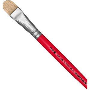 Pincel Artesanal Filbert 844 N.16 Vermelho Pinceis Tigre