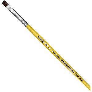 Pincel Escolar Chato 267 N.00 Amarelo Pinceis Tigre