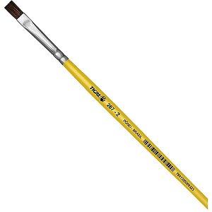 Pincel Escolar Chato 267 N.02 Amarelo Pinceis Tigre