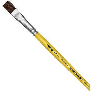 Pincel Escolar Chato 267 N.10 Amarelo Pinceis Tigre