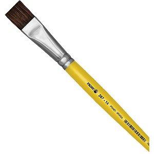 Pincel Escolar Chato 267 N.14 Amarelo Pinceis Tigre