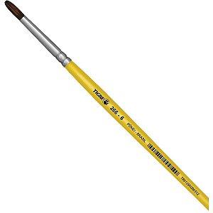 Pincel Escolar Redondo 266 N.06 Amarelo Pinceis Tigre
