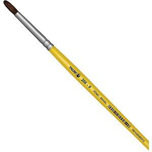 Pincel Escolar Redondo 266 N.08 Amarelo Pinceis Tigre