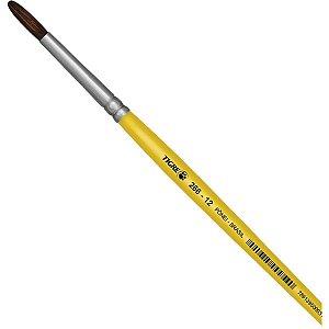 Pincel Escolar Redondo 266 N.12 Amarelo Pinceis Tigre