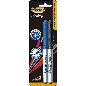 Pincel Marcador Permanente Marking 1.1Mm Azul/preta Bic