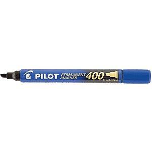 Pincel Marcador Permanente Sca 400 Ponta Chanfrada Azul Pilot