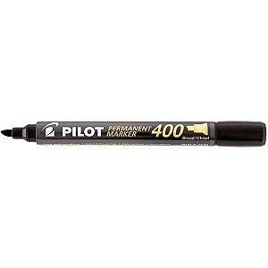 Pincel Marcador Permanente Sca 400 Ponta Chanfrada Preta Pilot