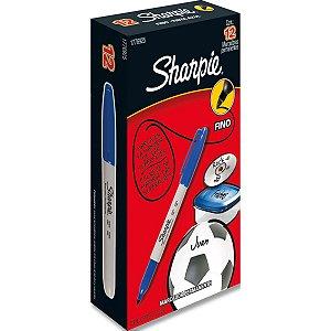 Pincel Marcador Permanente Sharpie Fino Azul Paper Mate
